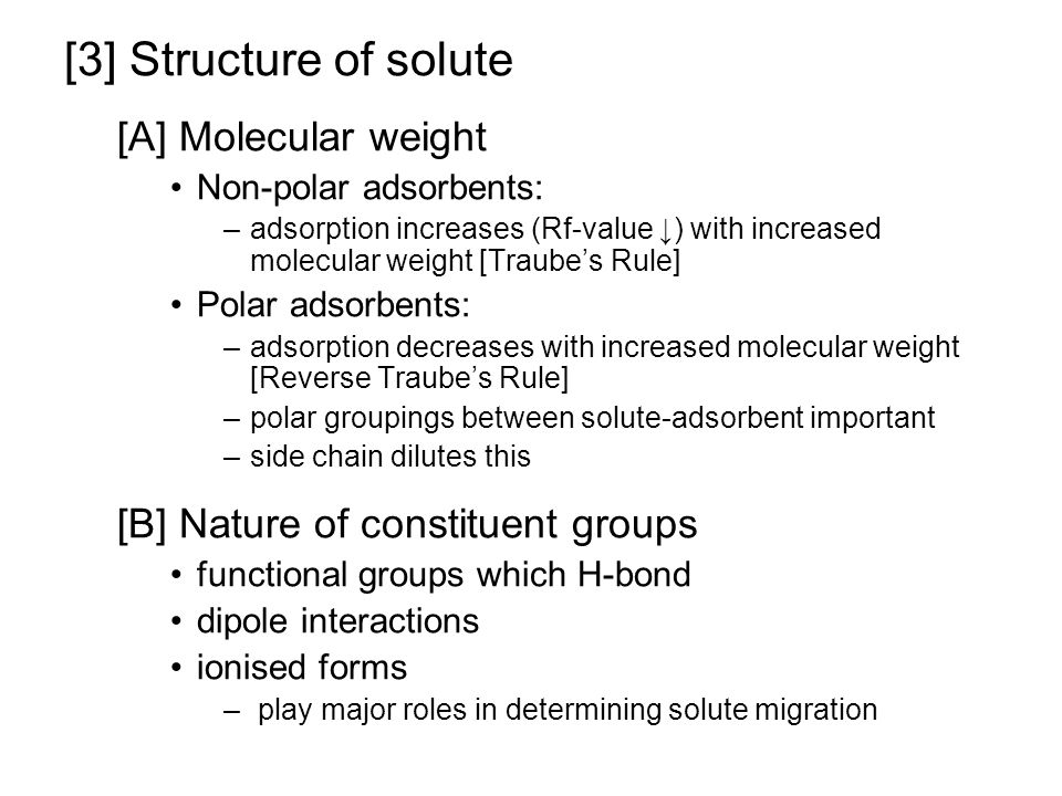[3] Structure of solute [A] Molecular weight
